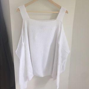 Asos cold shoulder knit top